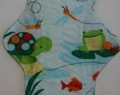 ZORB Kiki Mama Cloth Menstrual Pad Size is Regular Turtle Frog Fish Animals