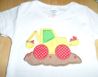 Valentines tractor  Iron on  applique Boy shirt available