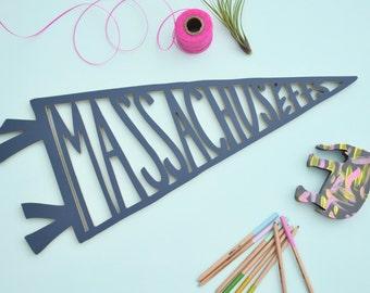 Massachusetts pennant