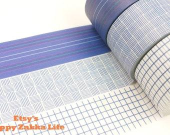 Japanese Washi Masking Tape Set - Dark Blue Series - 30mm Wide - 11 Yard(each roll) - 3 rolls