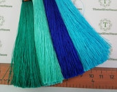 2 pcs per pack Silk Tassel 10mm thickness 98mm length on 4 colors to choose