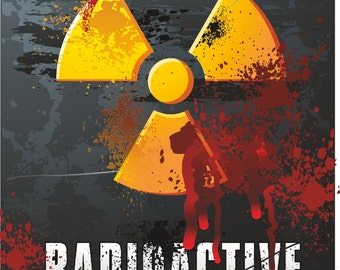 Radioactive Danger Warning Sticker for Laptop Book Fridge Guitar Motorcycle Helmet ToolBox Door PC Boat