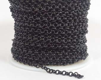 25ft Rolo Chain - Shiny Midnight Black - CH12