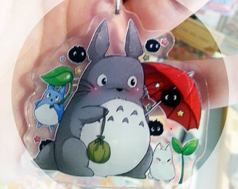 Totoro and friends Acrylic strap keychain