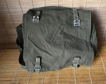 Vintage Army Green Canvas Shoulder Strap Messenger Bag