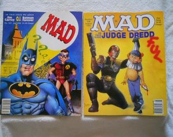 Vintage Mad Magazines Collectible Satire Humor1995