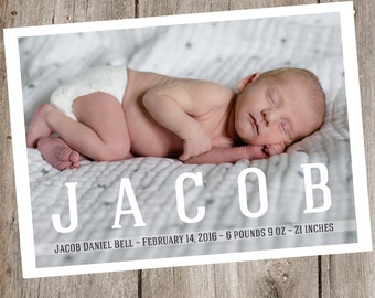 Photo Birth Announcement- Digital