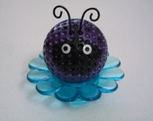 Purple Shimmer Ladybug Desk Flower / Ladybug Paper Weight