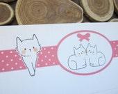 letter paper / pink dot