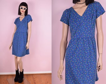 90s Alphabet Print Dress