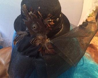 Steampunk mini hat