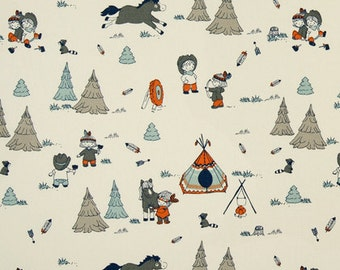 One Tailored Full/Twin  Bedskirt   - Cowboys  Cowgirls  Horses - Orange, Red, Blue - Matching Curtain Panels/Pillow Covers Available