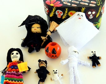 Day of the Dead Halloween Worry Doll Box