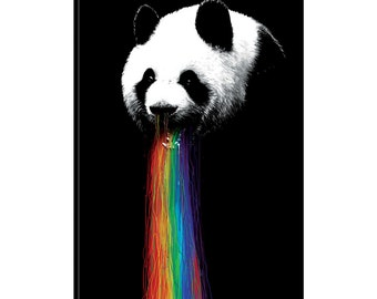 iCanvas Pandalicious Gallery Wrapped Canvas Art Print by Nicebleed