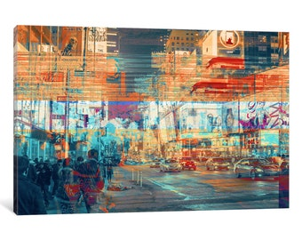 iCanvas TimesSquared Gallery Wrapped Canvas Art Print by 5by5collective