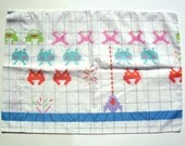 Set Two of Vintage Space Invaders Pillowcases, Springmaid
