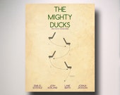 The Mighty Ducks Minimalist Movie Poster / Wall Art / Movie Film Poster