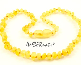 Natural BALTIC AMBER Baby Teething Necklace with CERTIFICATES of Authenticity