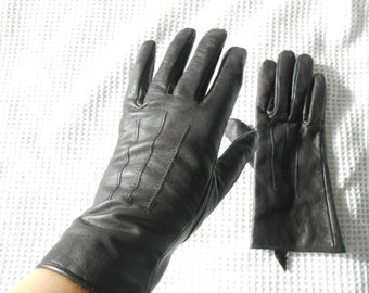 Brown Gloves Leather Ladies Downton Abbey English Lady Jackie O