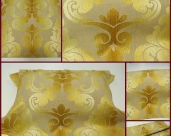 GP & JBaker Bartizan-Maize -Upholstery Fabric W 25x24.5 inches L  -Luxury Fabric- Italian Damask Fabric