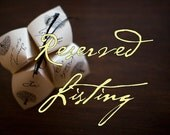 Reserved Listing for Callie - Cootie Catcher Wedding Programs