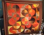 Queen Coverlet in Autumn Colors