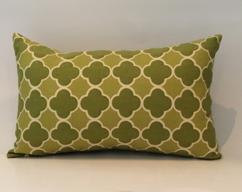"18""X12"" Emerald Green Pattern Pillow Cover"