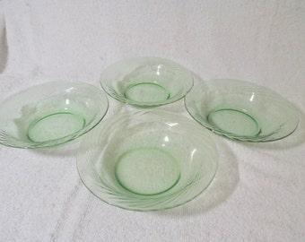 Vintage Mint Green Pyrex Bowls Set of 4