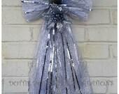Silver Glitter Metallic Ribbon Angel