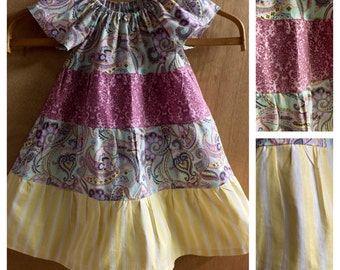 Spring/Summer Boho Style Peasant Dress,  size 2t