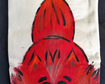 Hand Painted Fox Canvas Hand Puppet