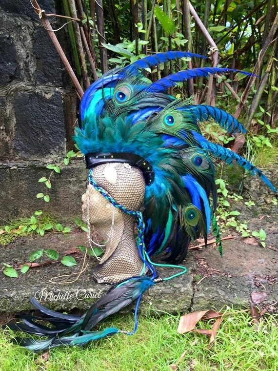 Ahti  - Customizable Feather Mohawk / Headdress