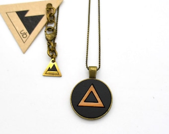 Triangle - Small Wood Necklace