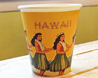 Vintage Hawaii Hot/Cold Cups- Set of 12