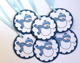 Snowman Tags - Holiday Gift Tags - Christmas Tags - Winter Tags - Winter Favor Tags - Winter Thank You - To From Handmade Tags - Hang Tags
