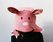 Bunny rabbit kids dress up hat in Liberty pink