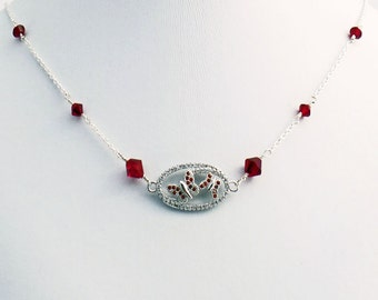 Crystal Butterfly Cubic Zirconia Necklace CZ