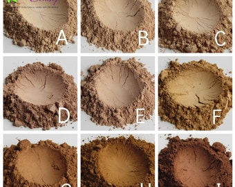 Mineral Foundation Powder - Natural Cosmetics - Loose Face Powder by RAW Beauty LLC