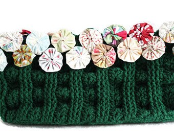 ON SALE - Crochet Bag - Crochet Clutch - Crochet Purse - Clutch - Handbag - Envelope Clutch - Green Clutch - Vegan Handbag - Green Bag