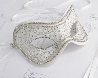 Ivory Wedding Masquerade Ball Mask