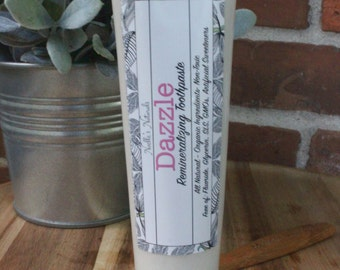 Remineralizing Toothpaste - Peppermint - 6oz - NO Fluoride - All Natural - Non-Toxic - SLS free - Glycerin Free - Vegan