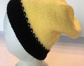 Mens Womens Knitted Skull Cap Hat Slouch Cap Ski Hat Winter Hat Beanie Watch Cap Tam Tammy Black Yellow Gold