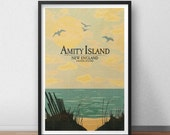 Amity Island Vacation Poster - 12 x 18 inches - JAWS Movie Poster