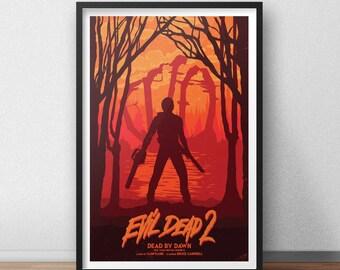 Evil Dead 2 - 12 x 18 inches - Horror Movie - Bruce Campbell - Sam Raimi