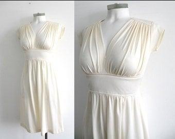 70s White Marilyn Monroe Dress - XS S