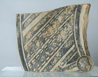 "Collectible Anasazi Native American Antique Pottery Shard Artifact From Arizona 3"" x 2.90""Monochrome Color DanPickedMinerals"