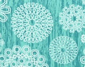 Fat Quarter fabric for quilt or craft Michael Miller Knots and Loops in Turquoise Fat Quarter