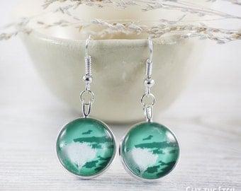 Mint Earrings - Earrings - Fashion Earrings - Green Earrings - Mint Jewelry - Art Jewelry - Tree Earrings (0-50E)