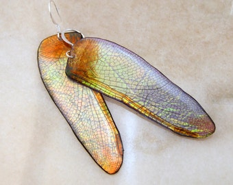 Wide Dragonfly Wing earrings