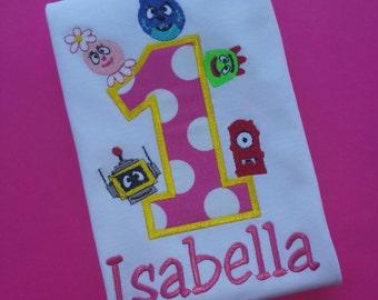 Yo Gabba Gabba Birthday Shirt